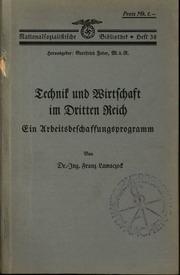 Technik und Wirtschaft im Dritten Reich