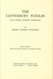 The colossal book of short puzzles and problems martin gardner the canterbury puzzles fandeluxe Image collections