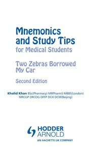 Mnemonics and Study Tips for Medical Students  Two Zebras