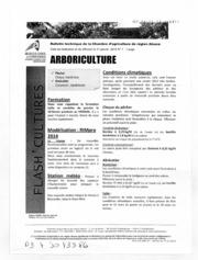 Bulletin technique des stations davertissements agricoles - Grandes cultures - Alsace - 2014 - 1