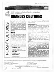 Bulletin technique des stations davertissements agricoles - Grandes cultures - Alsace - 2014 - 4