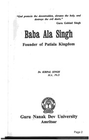 Community texts free books free texts free download borrow baba ala singh founder of patiala kingdom fandeluxe Images