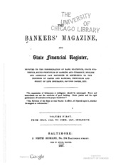 The Bankers Magazine [vol. 1]