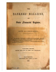 The Bankers Magazine [vol. 3]