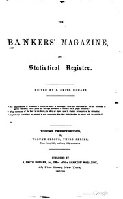 The Bankers Magazine [vol. 22]