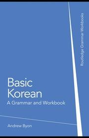 Basic Korean - A Grammar And Workbook : Free Download