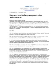 America Shipwrecks List