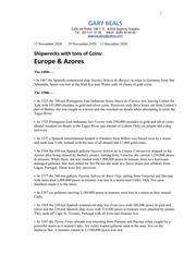 Europe & Azores Shipwrecks List