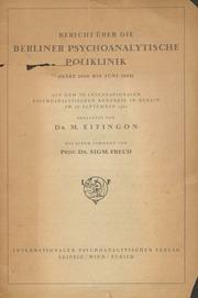 Bericht über die Berliner Psychoanalytische Poliklinik März 1920 bis Juni 1922