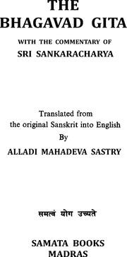 Internet Archive Search: Bhagavad Gita Sankara