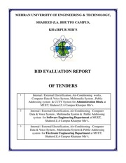 Bid Evaluation Report : Free Download, Borrow, and Streaming