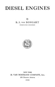 Bongart, B. J., Diesel Engines