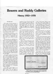 Bowers & Ruddy Galleries Silver Anniversary 1953-1978