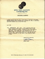 Walter Breen Authentication Letters