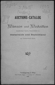 Auktions-catalog : Muenzen und Medaillen