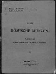 Roemische muenzen : Sammlung eines bekannten Wiener Amateurs