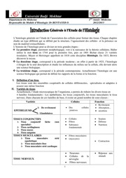 By Fedjil Histologie COURS 1