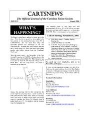 CARTSNEWS (August 2004)