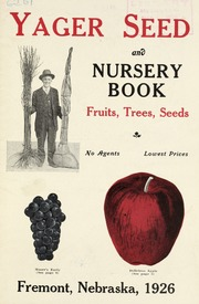 Vol 1926 Yager Seed And Nursery Book Fruits Trees Seeds Company