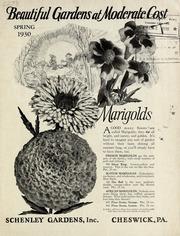 Vol 1930: Beautiful Gardens At Moderate Cost : Spring 1930 / Schenley  Gardens.