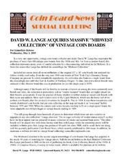 Coin Board News Special Bulletin