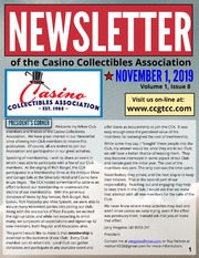 Newsletter of the Casino Collectibles Association