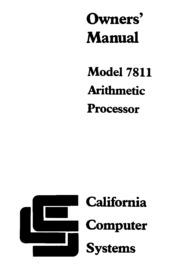 CCS Apple II APU 7781B Owners Manual : Free Download, Borrow, and ...