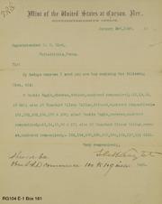 CC Box 1889 dies sent Philadelphia