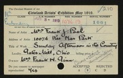 Entry card for Pool, Ethel for the 1919 May Show.