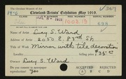 Entry card for Ward, Lucy S. for the 1919 May Show.