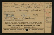 Entry card for Bliss, Anna M. for the 1920 May Show.