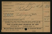 Entry card for Boyer, Merle for the 1920 May Show.