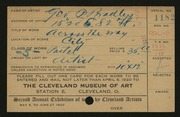 Entry card for Bradley, George P. for the 1920 May Show.