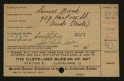 Entry card for Breck, Louise for the 1920 May Show.