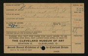 Entry card for Brody, Nathan E. for the 1920 May Show.