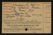 Entry card for Coit, Caroline E. for the 1920 May Show.