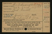 Entry card for Conger,Elizabeth Stevens for the 1920 May Show.