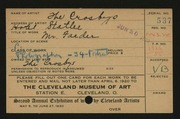 Entry card for Crosbys, The for the 1920 May Show.