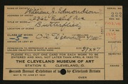 Entry card for Edmondson, William J. for the 1920 May Show.
