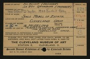 Entry card for Flint, H. L., and Geumbine, LeRoy; Taylor, Albert D. (Albert Davis) for the 1920 May Show.