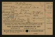 Entry card for Green, William B., and Rorimer, Louis; Rorimer-Brooks Studios; Hawk, Clayton M.  for the 1920 May Show.