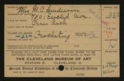 Entry card for Henderson, Mrs. for the 1920 May Show.