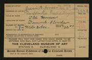 Entry card for Jones, Jessie Barrows for the 1920 May Show.