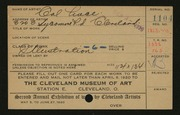 Entry card for Luce, Cal for the 1920 May Show.