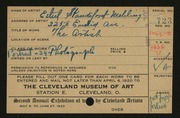 Entry card for Standiford-Mehling, Ethel for the 1920 May Show.