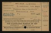 Entry card for Oakes, Wilbur L. for the 1920 May Show.