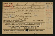 Entry card for Payne, Emma for the 1920 May Show.