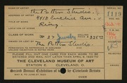 Entry card for Potter and Mellen , and Dick, John Albert; Kurz, Carl; Potter, Florence Loomis; Potter, Horace Ephraim for the 1920 May Show.