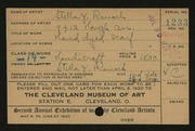 Entry card for Rausch, Stella J. for the 1920 May Show.