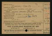 Entry card for Ruggles, E. A. (Edd Alvah) for the 1920 May Show.